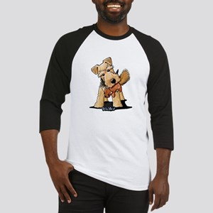 Welsh Terrier With Squirrel Baseball Jersey
