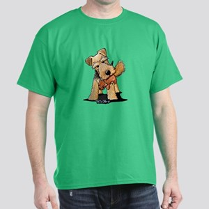 Welsh Terrier With Squirrel Dark T-Shirt