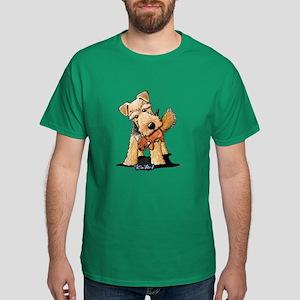 Welsh Terrier With Squirrel Dark T-Shirt