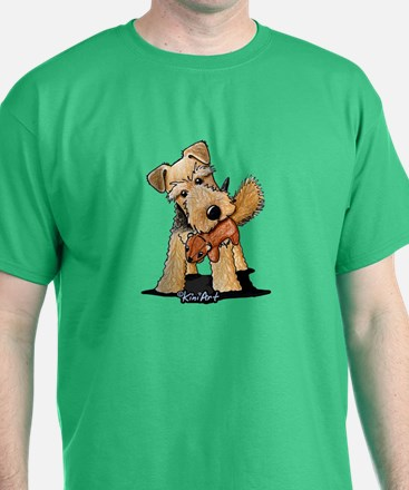 Welsh Terrier With Squirrel T-Shirt