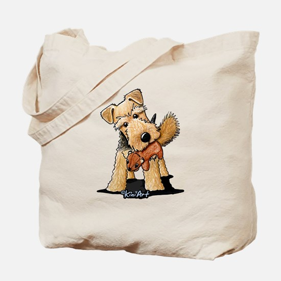 Welsh Terrier With Squirrel Tote Bag
