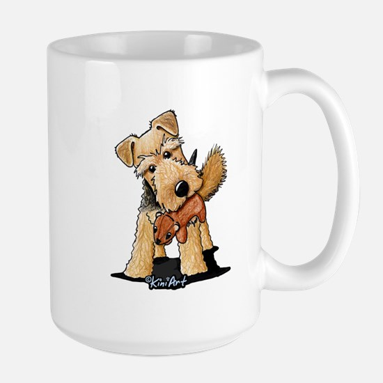 Welsh Terrier With Squirrel Large Mug