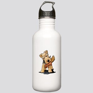 Welsh Terrier With Squirrel Stainless Water Bottle