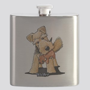 Welsh Terrier With Squirrel Flask