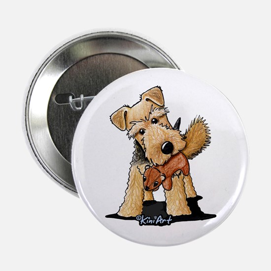 "Welsh Terrier With Squirrel 2.25"" Button"