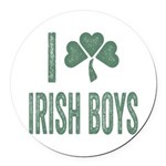 I love Irish Boys Round Car Magnet