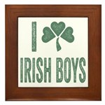 I love Irish Boys Framed Tile