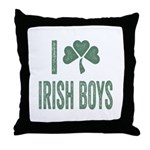 I love Irish Boys Throw Pillow