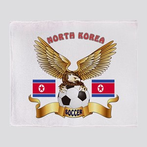 North Korea Football Design Throw Blanket