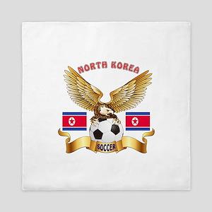 North Korea Football Design Queen Duvet