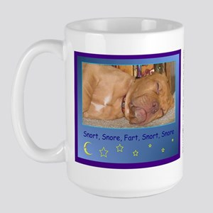 Sleeping puppy Large Mug