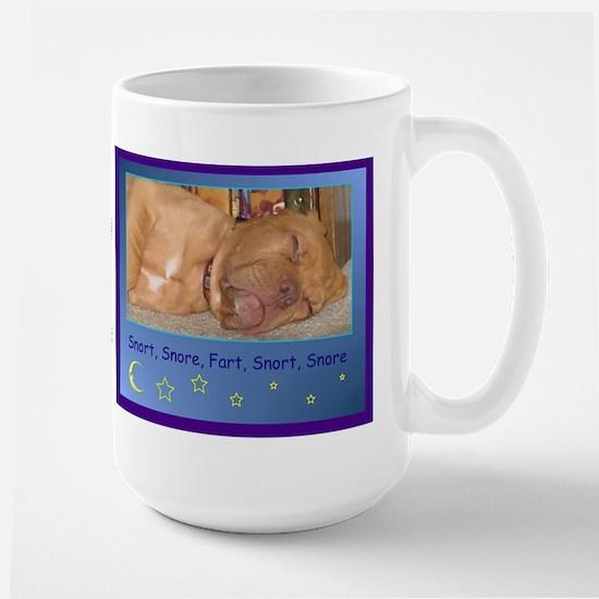 Sleeping puppy Large Mug