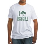 I Love Irish Girls Fitted T-Shirt