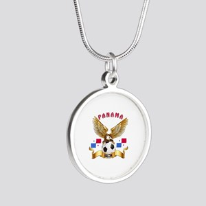 Panama Football Design Silver Round Necklace