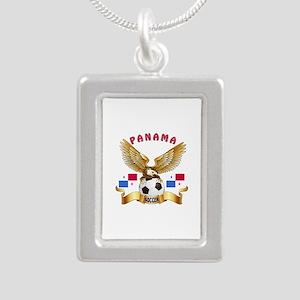 Panama Football Design Silver Portrait Necklace
