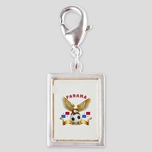 Panama Football Design Silver Portrait Charm