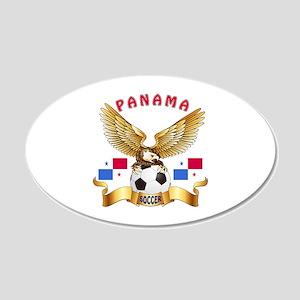 Panama Football Design 20x12 Oval Wall Decal