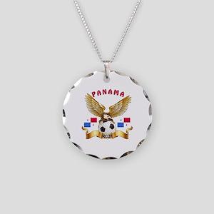Panama Football Design Necklace Circle Charm