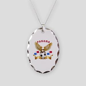 Panama Football Design Necklace Oval Charm