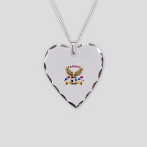 Panama Football Design Necklace Heart Charm