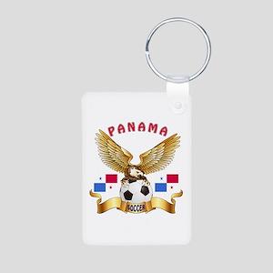 Panama Football Design Aluminum Photo Keychain