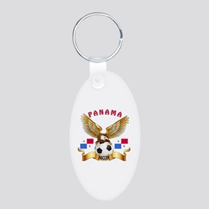 Panama Football Design Aluminum Oval Keychain