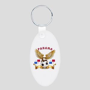 Panama Football Design Aluminum Oval Keychain