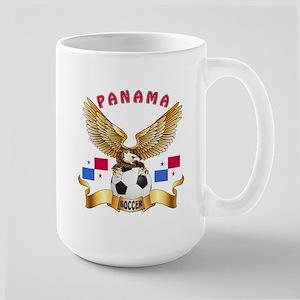 Panama Football Design Large Mug