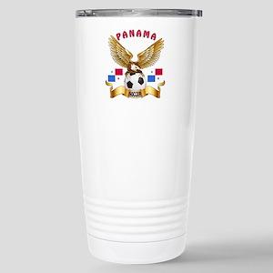 Panama Football Design Stainless Steel Travel Mug