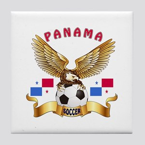 Panama Football Design Tile Coaster