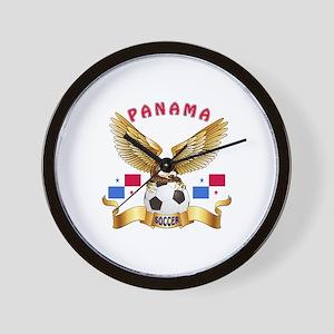 Panama Football Design Wall Clock