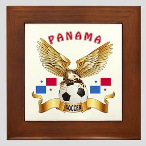 Panama Football Design Framed Tile