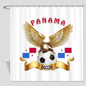 Panama Football Design Shower Curtain