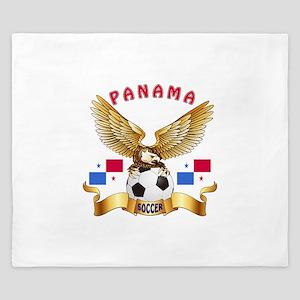 Panama Football Design King Duvet