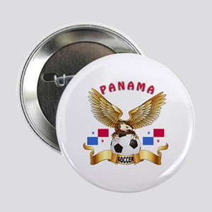 "Panama Football Design 2.25"" Button"
