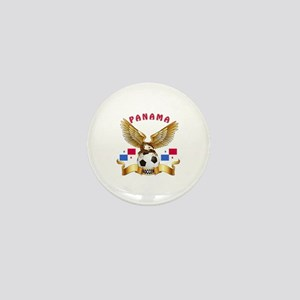 Panama Football Design Mini Button