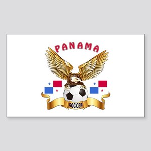 Panama Football Design Sticker (Rectangle)