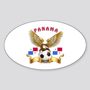 Panama Football Design Sticker (Oval)