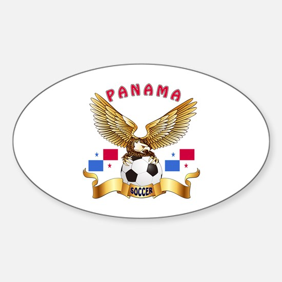 Panama Football Design Sticker (Oval)