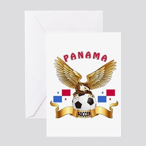 Panama Football Design Greeting Card