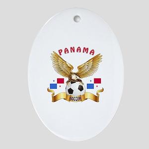 Panama Football Design Ornament (Oval)