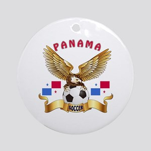 Panama Football Design Ornament (Round)