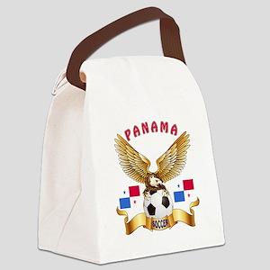 Panama Football Design Canvas Lunch Bag