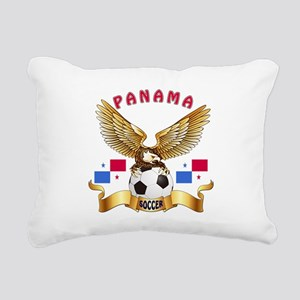 Panama Football Design Rectangular Canvas Pillow