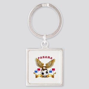 Panama Football Design Square Keychain