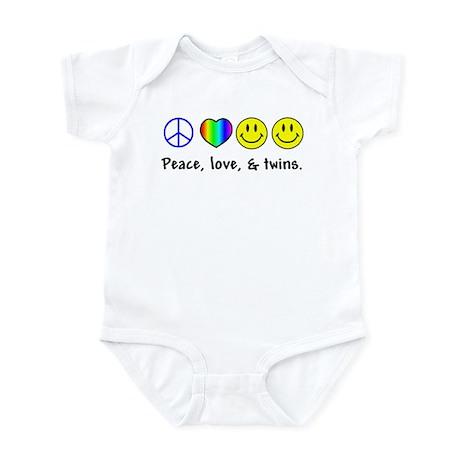 Peace, Love, & Twins Infant Bodysuit