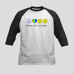 Peace, Love, & Twins Kids Baseball Jersey