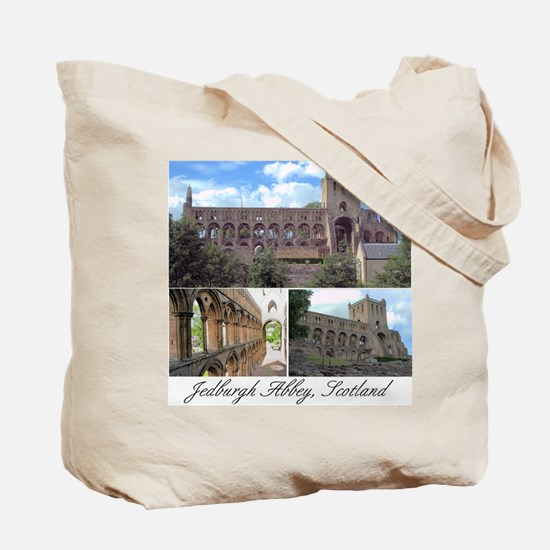 Jedburgh Abbey Tote Bag (Collage on both sides)
