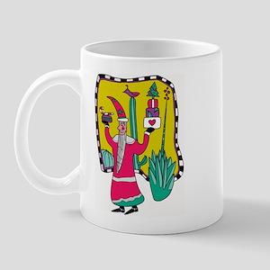 Cactus Santa Right-handed Mug