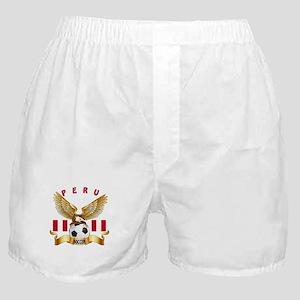 Peru Football Design Boxer Shorts